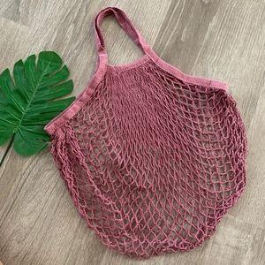 Handbags - MAUVE FARMERS MARKET NET TOTE BAG